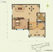 远大中央公园1室1厅1卫0平方米户型图