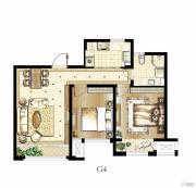 印象欧洲2室2厅1卫73平方米户型图