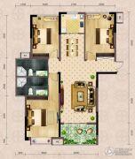 弘洋・拉菲小镇3室2厅2卫128平方米户型图