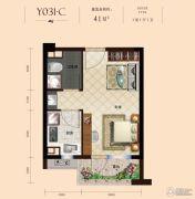 碧桂园九龙湾1室1厅1卫41平方米户型图