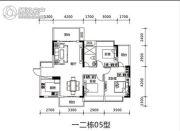 壹城中心3室2厅1卫0平方米户型图