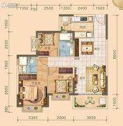 北海恒大雅苑3室2厅2卫99平方米户型图
