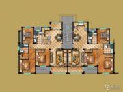 茗桂华庭3室2厅2卫115--118平方米户型图