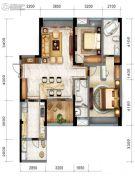 戛纳湾金棕榈3室2厅2卫106平方米户型图