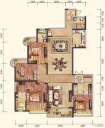 雅居乐・御宾府4室3厅3卫254平方米户型图