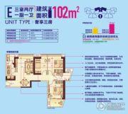 顶�L国际城3室2厅1卫102平方米户型图