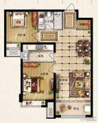 保利花园2室2厅1卫89平方米户型图