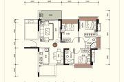 祥圣富地3室2厅2卫90平方米户型图