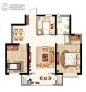 意境兰庭2室2厅1卫86平方米户型图