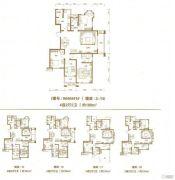 棠悦4室2厅2卫158--169平方米户型图