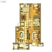 银亿格兰郡2室2厅1卫80平方米户型图