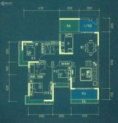 南华时代城3室2厅2卫120平方米户型图