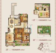 正荣学府壹号3室2厅2卫137平方米户型图