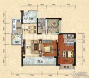 天湖御林湾2室2厅2卫104平方米户型图