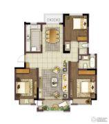 中冶盛世滨江3室2厅2卫125平方米户型图