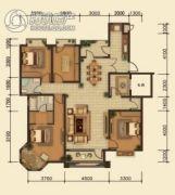 中鸿基名都3室2厅2卫150平方米户型图
