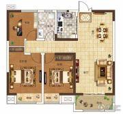 奥兰和园3室2厅1卫101平方米户型图