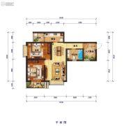 怡景尚居2室2厅1卫89平方米户型图