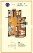 鲁商・金悦城3室2厅1卫105平方米户型图