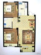 澳海澜庭(现房)2室2厅1卫92平方米户型图