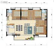 时代水岸4室2厅2卫115平方米户型图