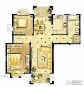 诚河新旅城2室2厅1卫99平方米户型图
