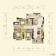 中珠・在水一方3室2厅2卫115平方米户型图