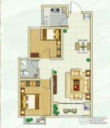 林荫春天2室2厅1卫75平方米户型图