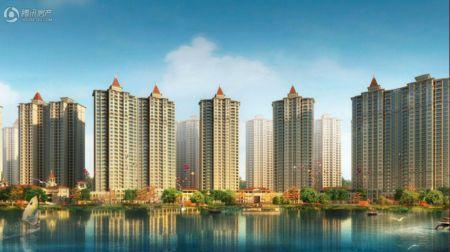 锦绣河湾手绘地图
