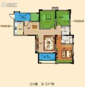 万景城3室2厅2卫92平方米户型图