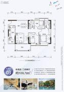 翔隆七色城邦3室2厅1卫109平方米户型图