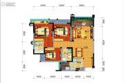 远大中央公园3室2厅2卫95平方米户型图