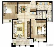 尼德兰花园2室2厅1卫96平方米户型图