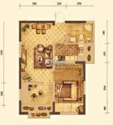 大华锦绣华城1室1厅1卫50平方米户型图