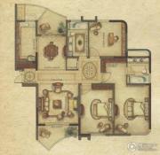 广洋海尚国际3室2厅2卫164平方米户型图