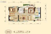 长兴星城3室2厅1卫107平方米户型图
