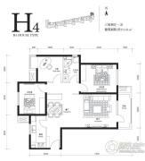 首开・璞�v公馆3室2厅1卫111平方米户型图
