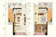 天奕国际广场1室1厅1卫50平方米户型图