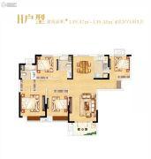光明上海府邸4室2厅2卫139平方米户型图