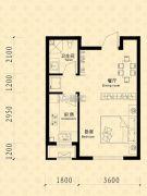 中东凯悦公馆1室1厅1卫38--43平方米户型图