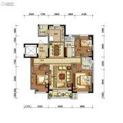 碧桂园御长白3室2厅2卫128平方米户型图