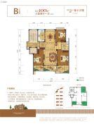 新湖・玫瑰园3室2厅1卫100--101平方米户型图
