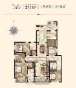 万源城御�E3室2厅3卫0平方米户型图