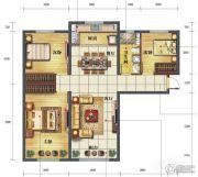 海亮滨河壹号3室2厅1卫119平方米户型图