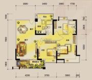 东湖天下3室2厅2卫115平方米户型图