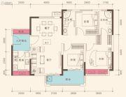 深业高榜山1号花园3室2厅2卫108平方米户型图