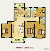 龙鸿怡家4室2厅2卫0平方米户型图