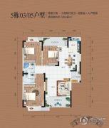 同安・福龙湾3室2厅2卫124平方米户型图