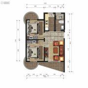 香庭海岸2室1厅1卫0平方米户型图