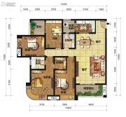 中交锦湾一期4室2厅2卫156平方米户型图